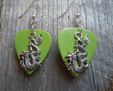 Dragon Charm Guitar Pick Earrings - Pick Your Color