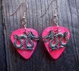 Serpentine Style Dragon Charm Guitar Pick Earrings - Pick Your Color