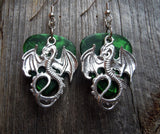 Large Dragon Charm Guitar Pick Earrings - Pick Your Color