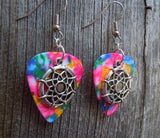 Dreamcatcher Charm Guitar Pick Earrings - Pick Your Color