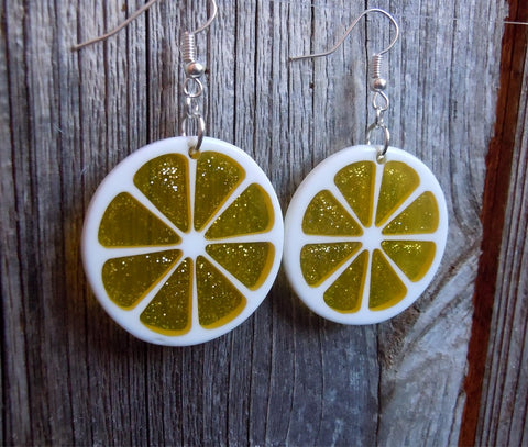 Lemon Slice Dangle Earrings