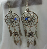 Dreamcatcher and Feather Charms Chandelier Earrings