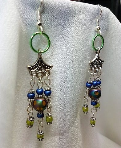 Glass Beaded Chandelier Earrings