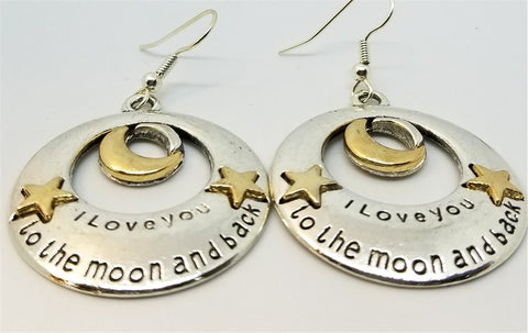 I Love You To The Moon and Back Drop Earrings