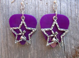 Fairy in a Star Charm Guitar Pick Earrings - Pick Your Color