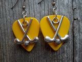 Field Hockey Charm Guitar Pick Earrings - Pick Your Color