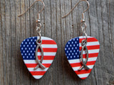 Christian Fish Charm Guitar Pick Earrings - Pick Your Color