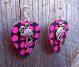 Flamingo Charm Guitar Pick Earrings - Pick Your Color