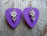 Daisy Charm Guitar Pick Earrings - Pick Your Color