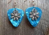 Flower Charm Guitar Pick Earrings - Pick Your Color