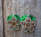 Large Daisy Flower Charm Guitar Pick Earrings - Pick Your Color