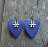 Tiny Flower Charm Guitar Pick Earrings - Pick Your Color