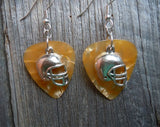 Football Helmet Charm Guitar Pick Earrings - Pick Your Color