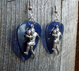 Football Player Charm Guitar Pick Earrings - Pick Your Color