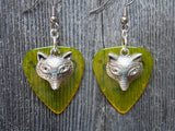 Fox Charm Guitar Pick Earrings - Pick Your Color