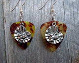 Frog on a Lilypad Charm Guitar Pick Earrings - Pick Your Color