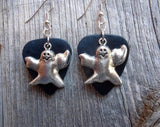 Ghost Charm Guitar Pick Earrings - Pick Your Color