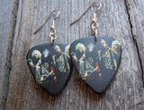 Guns n Roses Group Picture Guitar Pick Earrings