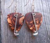Golfing Charm Guitar Pick Earrings - Pick Your Color