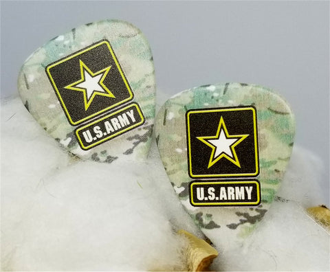 U.S. Army Flag Guitar Pick Cufflinks