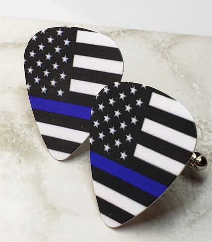 Police Support Awareness Flag Guitar Pick Cufflinks