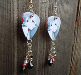 Girl with Attitude Guitar Pick Earrings with Crystal Dangles