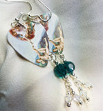 Michelangelo's Creation of Adam Guitar Pick Earrings with Swarovski Crystal Dangles