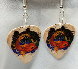 Koi Fish and Dragon Guitar Pick Earrings