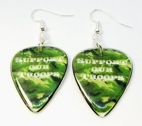 Transparent Support Our Troops Camo Guitar Picks