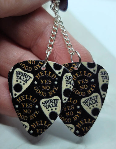 Ouija Board Planchettes Guitar Pick Earrings