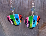 Colorful Family Guitar Picks with Swarovski Crystals