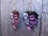 Girly Skull Rock n Roll Guitar Pick Earrings