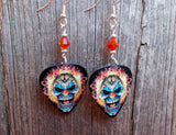 Evil Clown with Flames for Hair Guitar Picks with Fire Opal Swarovski Crystals