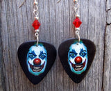 Evil Clown with Red Nose Guitar Picks with Red Swarovski Crystals