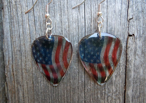 Transparent Flag Guitar Pick Earrings