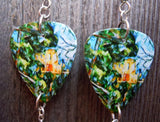 Paul Cezanne Château Noir Guitar Pick Earrings with Swarovski Crystal Dangles