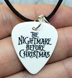 The Mayor from The Nightmare Before Christmas Guitar Pick on Black Suede Cord Necklace