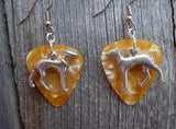 Greyhound Charm Guitar Pick Earrings - Pick Your Color