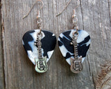 Electric Guitar Charm Guitar Pick Earrings - Pick Your Color