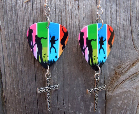 Colorful Happy Family Guitar Picks with Cross Dangles