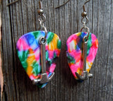 Hammer Charm Guitar Pick Earrings - Pick Your Color