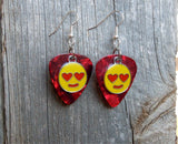 Pick Your Emoji Charm Guitar Pick Earrings