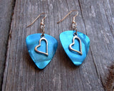 Crooked Heart Charm Guitar Pick Earrings - Pick Your Color