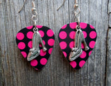 High Heeled Shoe Charm Guitar Pick Earrings - Pick Your Color