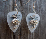 Hornet Charm Guitar Pick Earrings - Pick Your Color
