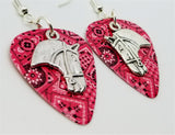 Horse Head Charm Guitar Pick Earrings - Pick Your Color