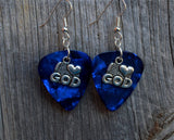 I Heart God Charm Guitar Pick Earrings - Pick Your Color