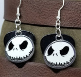 Jack Skellington Evil Grin of Nightmare Before Christmas Charm Guitar Pick Earrings - Pick Your Color