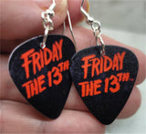 Friday the 13th Guitar Pick Earrings
