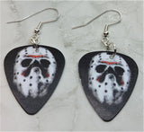 Jason Voorhees Hockey Mask Friday the 13th Guitar Pick Earrings